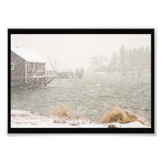 Heavy Snowstorm in Bass Harbor, Maine Photograph