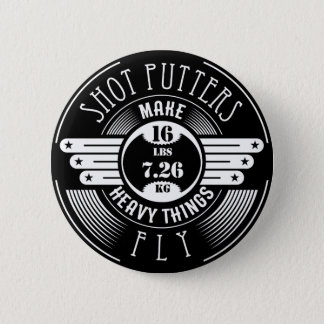 heavy things that fly 6 cm round badge