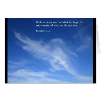 Hebrew 11:1  Clouds Greeting Card