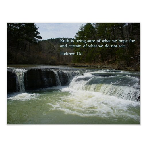 Hebrew 11:1 Waterfall Posters