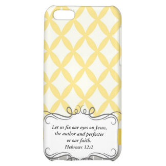 Hebrew 12:2  Modern Iphone case with Bible verse iPhone 5C Covers