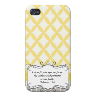 Hebrew 12:2  Modern Iphone case with Bible verse Cover For iPhone 4