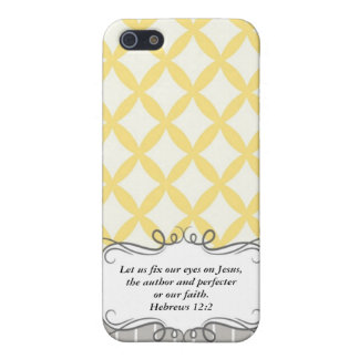 Hebrew 12:2  Modern Iphone case with Bible verse iPhone 5/5S Case