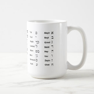 Hebrew Aleph Bet Mug