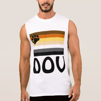 Hebrew (Dov)  Gay Bear Pride Flag Sleeveless Shirt