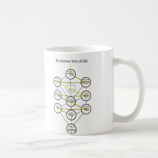 Hebrew Kabbalistic Tree of Life with Flaming Sword Coffee Mug