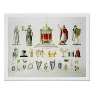 Hebrew Levi, Priest, King and Soldier with Sacred Poster
