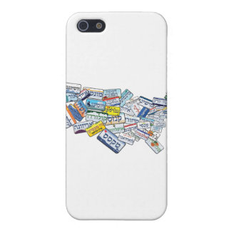 Hebrew License Plates in Shape of USA Cover For iPhone 5