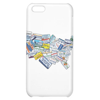 Hebrew License Plates in Shape of USA Cover For iPhone 5C
