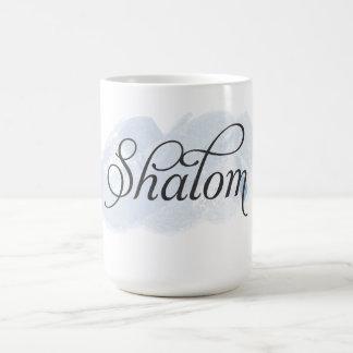 Hebrew - Shalom Basic White Mug