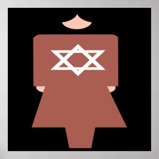 Hebrew Woman Symbol Poster