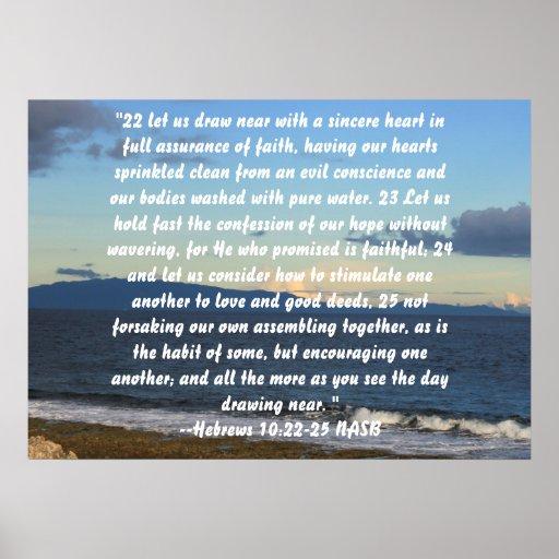 Hebrews 10:22-25 posters