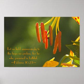 Hebrews 10:23 poster