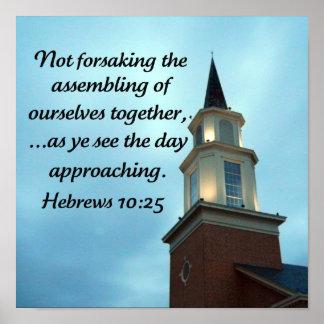 Hebrews 10:25 poster