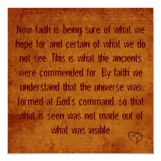 Hebrews 11:1-3 posters