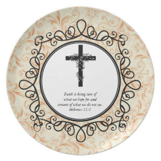 Hebrews 11:1 Bible Verses Decorative Plates