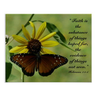 Hebrews 11:1  butterfly print