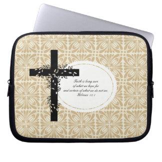 Hebrews 11:1 Laptop or Netbook Carrier Sleeve Computer Sleeves