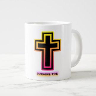 Hebrews 11:6 (Faith) Jumbo Gift  Mug