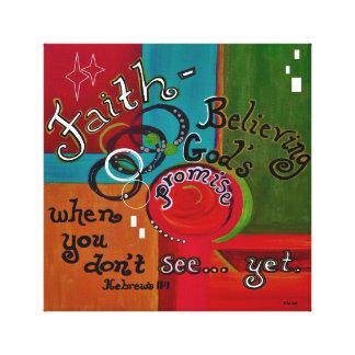 Hebrews 11 Faith Canvas Print