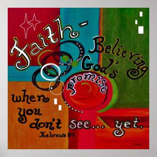 Hebrews 11 Faith Poster