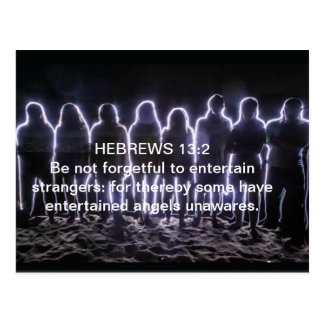 HEBREWS 13:2 ENTERTAINING ANGELS POSTCARD