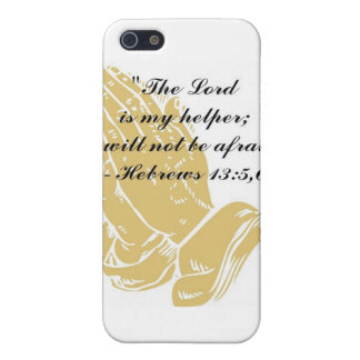Hebrews 13:5,6 iPhone 4,4S Skin Case For iPhone 5
