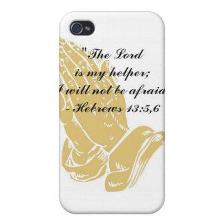 Hebrews 13:5,6 iPhone 4,4S Skin iPhone 4 Cases