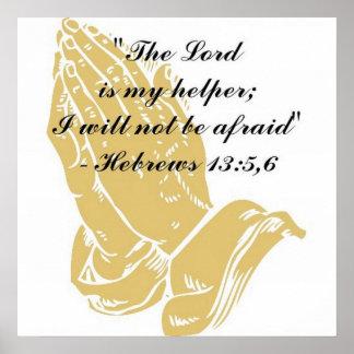 Hebrews 13:5,6 Poster