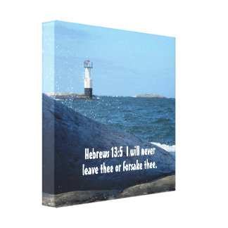 Hebrews 13:5 Never Leave Thee Canvas Print