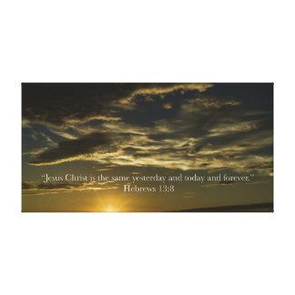Hebrews 13:8 gallery wrap canvas