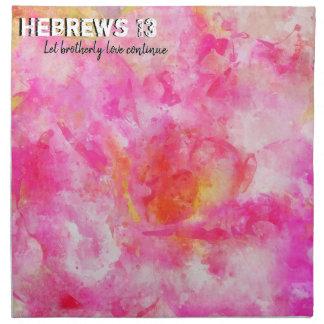 Hebrews 13 napkin