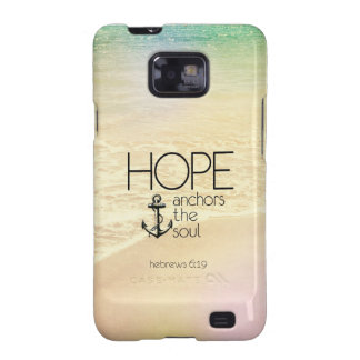 Hebrews 6:19 Hope anchors the soul Samsung Galaxy S2 Cover