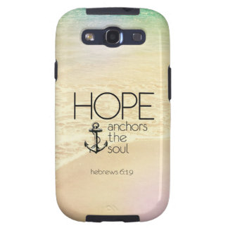 Hebrews 6:19 Hope anchors the soul Samsung Galaxy SIII Case
