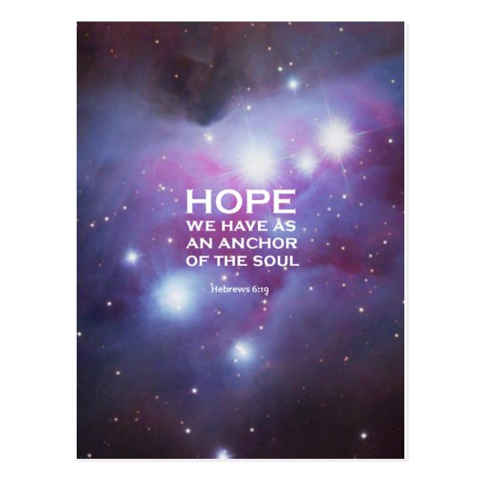 Hebrews 6:19 postcard