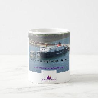 Hebrides Ferry at Uig pier Coffee Mug