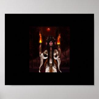 Hecate A Pagan underworld Goddess Poster