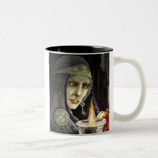 Hecate, Crones Rule. Two-Tone Coffee Mug