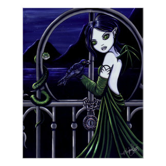 """""""Hecate"""" Gothic Underworld Faery Poster"""