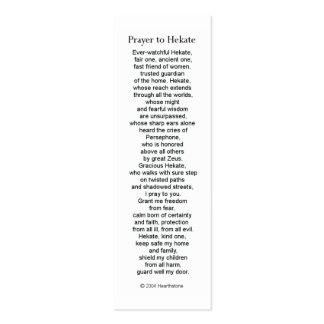 Hecate (Hekate) Prayer Card Business Card Templates