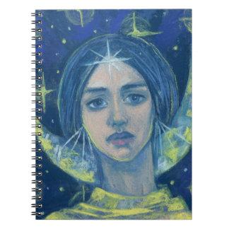 Hecate, Moon goddess, pastel painting, fantasy art Spiral Notebooks