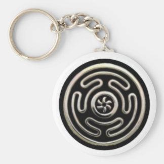 Hecate's Wheel Key Chain