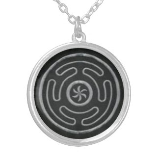 Hecate's Wheel Silver Plated Necklace