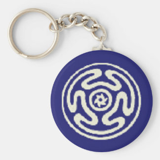 HECATE'S WHEEL Wicca Pagan Symbol Basic Round Button Key Ring