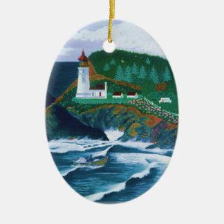 Heceta Lighthouse Ceramic Ornament
