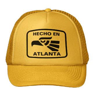 Hecho en Atlanta personalizado custom personalized Mesh Hats