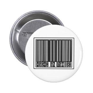 Hecho En Mexico 6 Cm Round Badge
