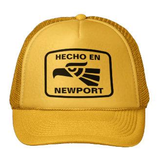Hecho en Newport personalizado custom personalized Cap