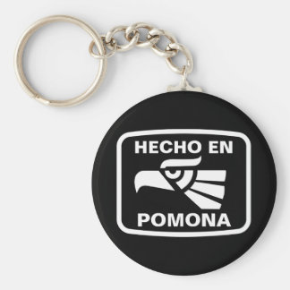 Hecho en Pomona personalizado custom personalized Basic Round Button Key Ring