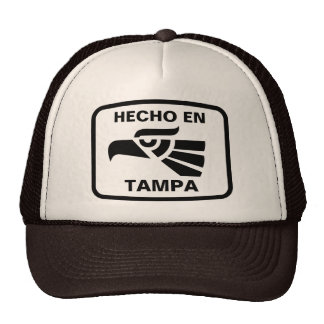 Hecho en Tampa  personalizado custom personalized Mesh Hats